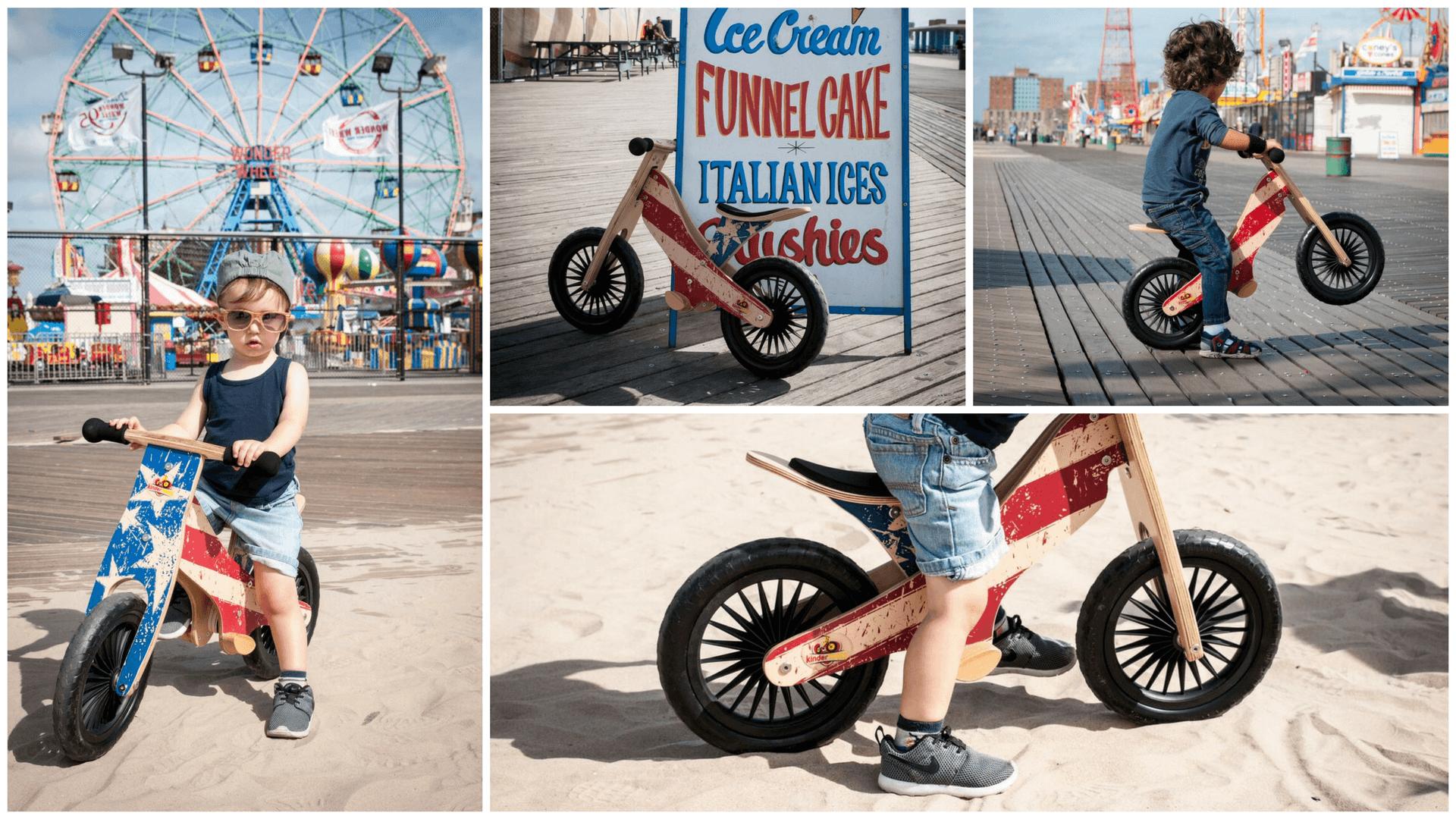 Giochi Allaperto Bici Senza Pedali In Legno Per Bambini Stars Stripes